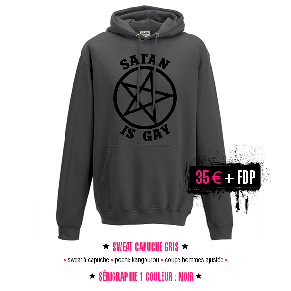 sweatshirt Satan Is Gay